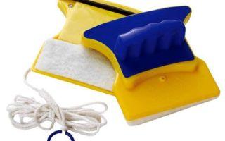 Использование магнитной щетки для мытья окон, известные модели