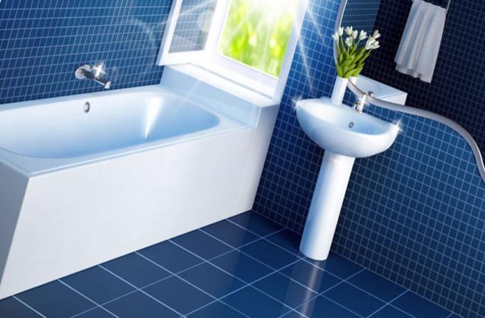 Убранная до блеска ванная комната