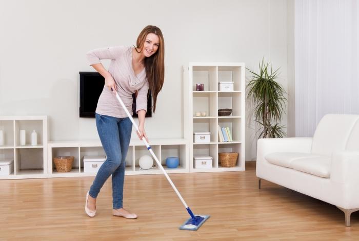 Чистый пол, довольная хозяйка