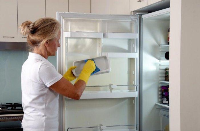 Мытье холодильника