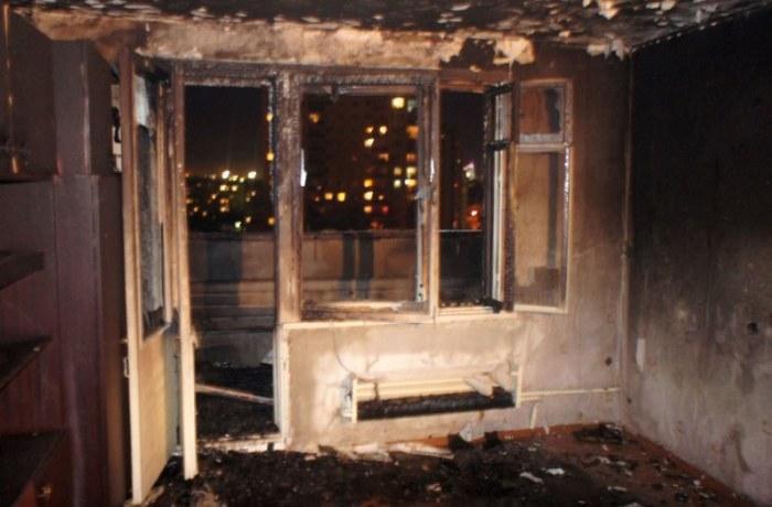 Страшное зрелище - сгоревшая квартира
