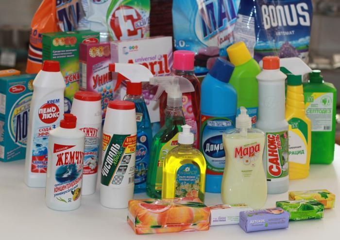 Различные чистящие средства