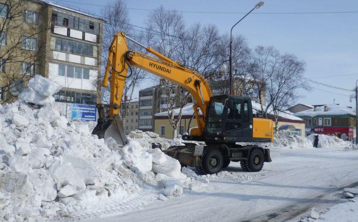 Уборка снега с помощью техники