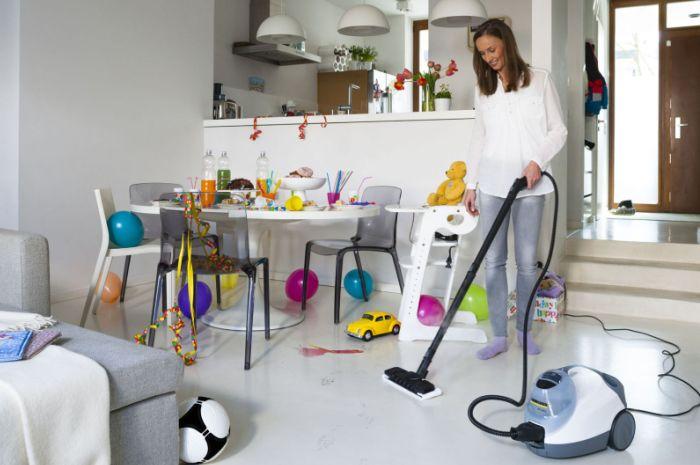 Наведение чистоты в доме после праздника