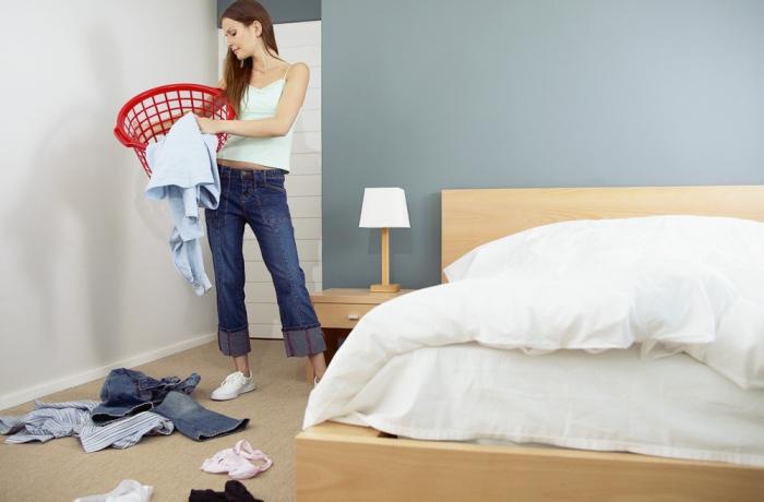 Уборочные работы в комнате отдыха