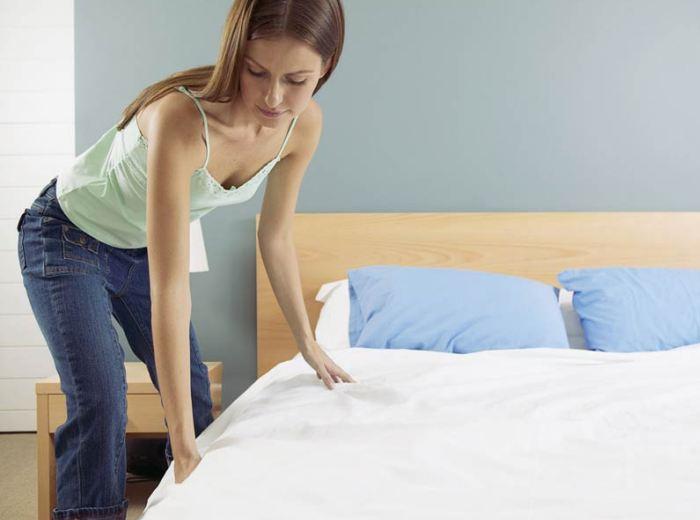 Хороший сон на чистом пастельном белье