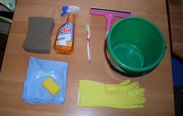 Инвентарь для мытья окон