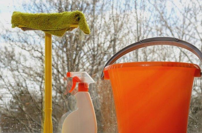 Подготовка к мытью окон