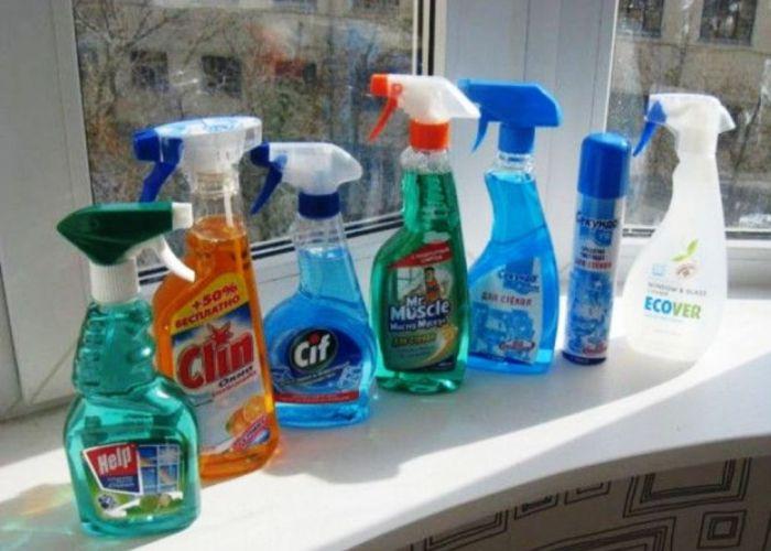 Составы для мытья окон
