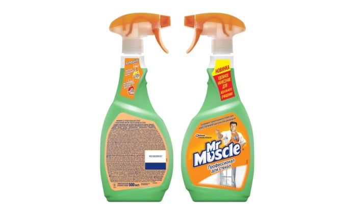 Состав для мытья стекол Мистер Мускул