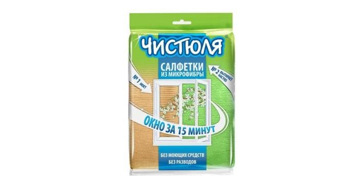 Салфетки от бренда Чистюля для работы с окнами