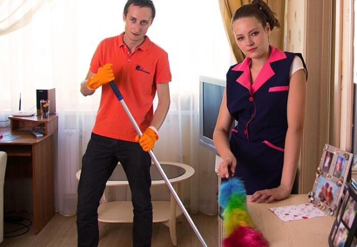 Уборка дома всей семьей