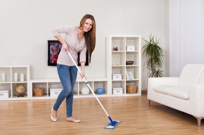 Отсутствие трудностей при мытье пола