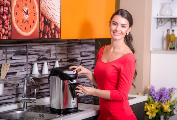 Для большого количества горячей воды используйте термопот