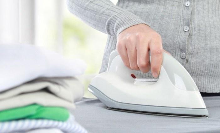 Глажка одежды чистым утюгом