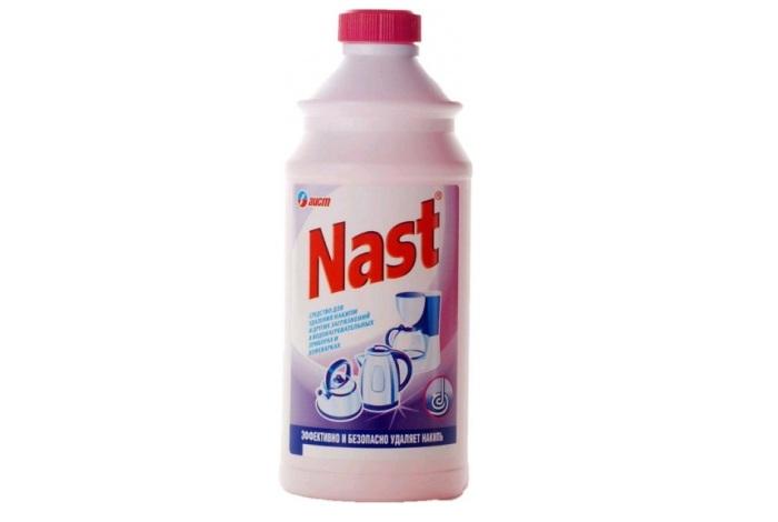 Состав Nast для удаления накипи из чайников