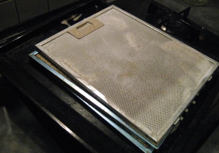 Чистка фильтра от вытяжки для удаления грязи и жира
