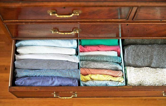 Разделение ящика на зоны хранения для разных вещей