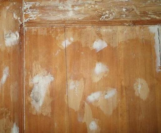 Шпаклевание деревянной мебели