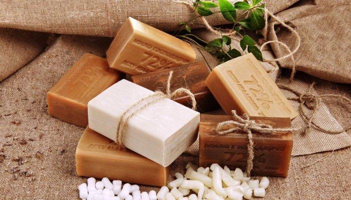 Декоративная упаковка куска мыла