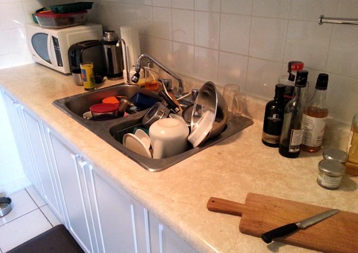 Грязная посуда притягивает муравьев в дом