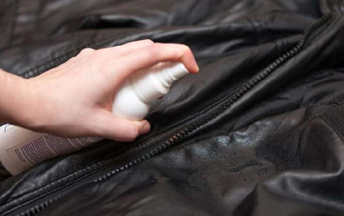 Обновление куртки новой краской