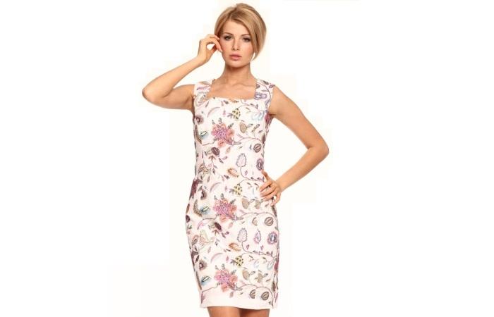 Современное льняное платье
