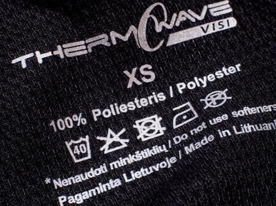 Этикетка на одежде с функциями регуляции тепла
