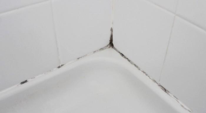 Плесень в ванной на герметике