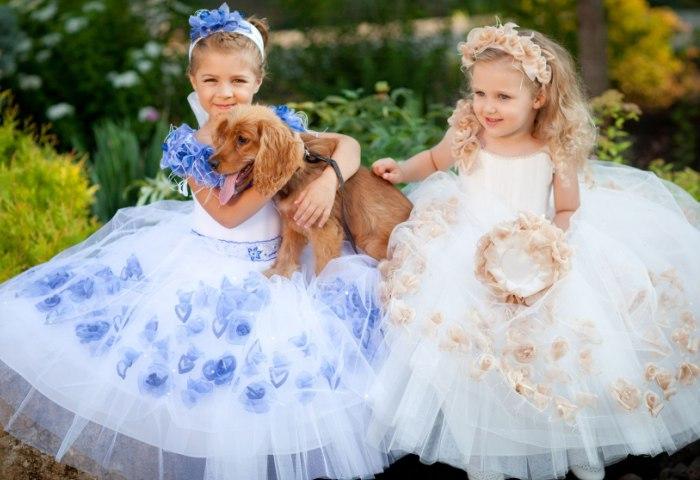 Накрахмаленные детские платья