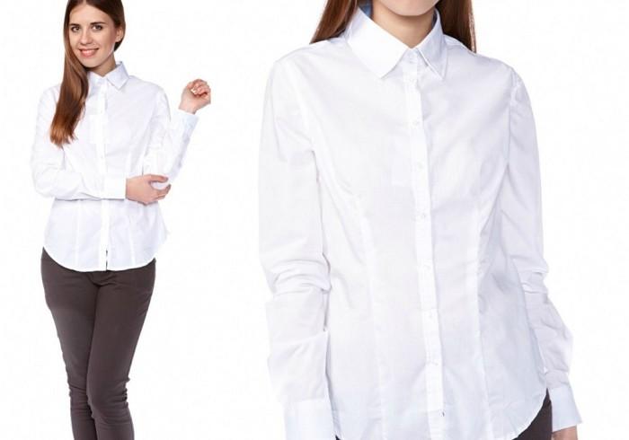 Белая блузка на девушке