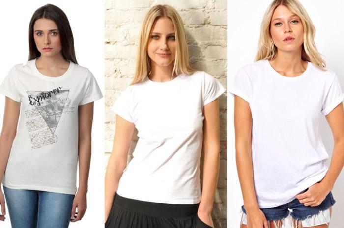 Женщины в белых футболках