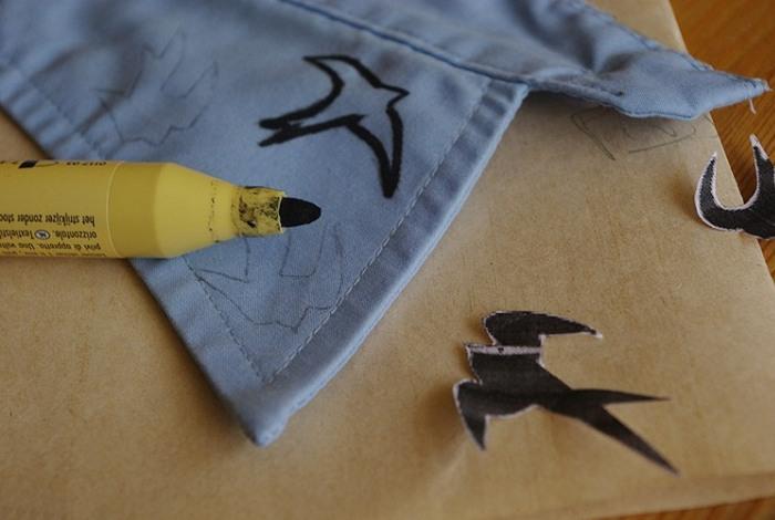 Рисунки маркером по ткани