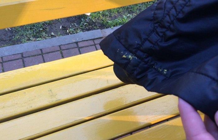 Пятна от краски на куртке