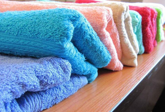 Полотенца из махры самых разных цветов