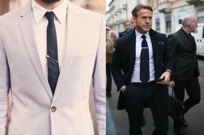 Применение зажимов для галстука