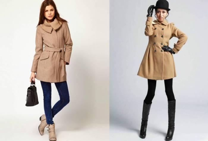 Вариации шерстяных пальто