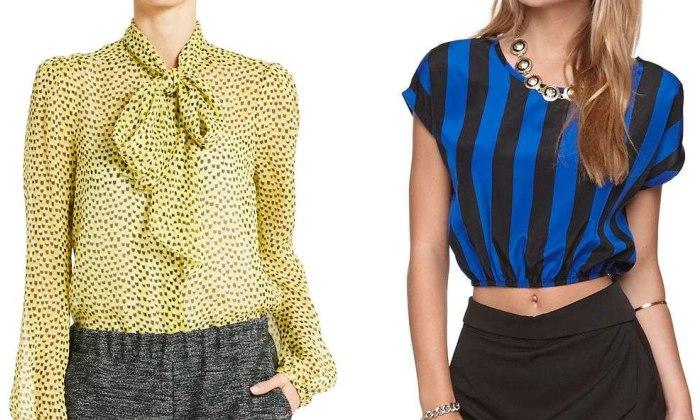 Шифоновые блузки разных цветов