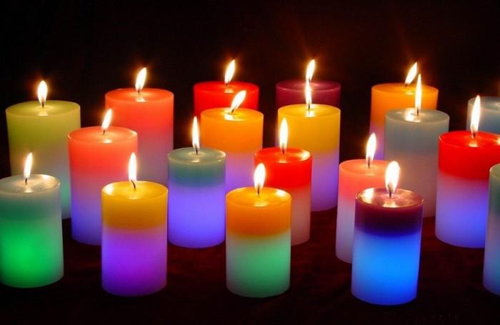 Свечи различных цветов
