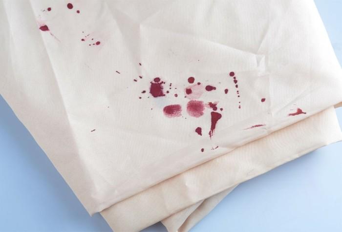 Типичный цвет кровавых следов