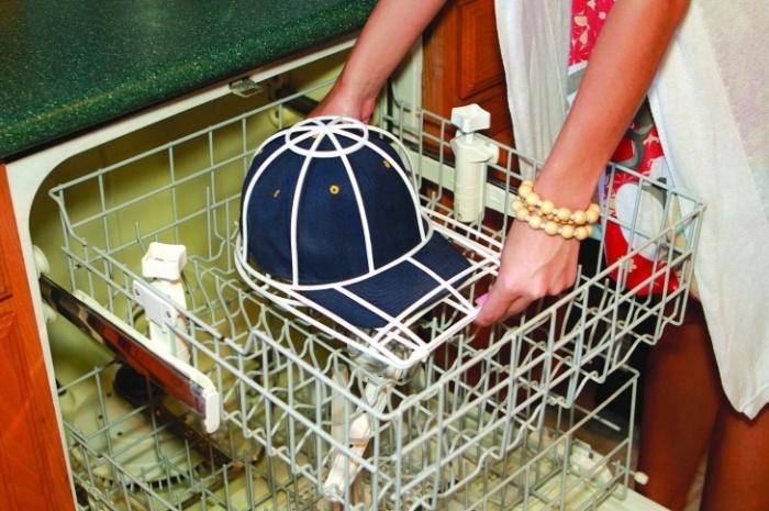 Приспособление для стирки кепки в посудомойке