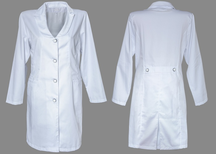 Белый женский медицинский халат