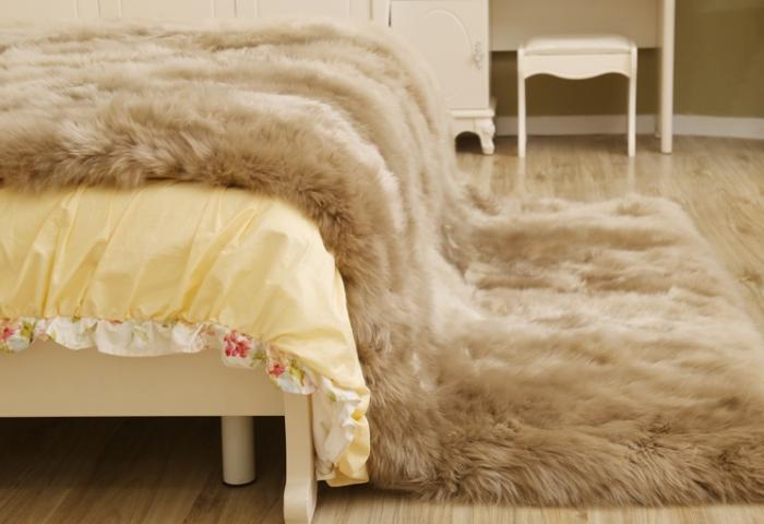 Меховое одеяло из шерсти