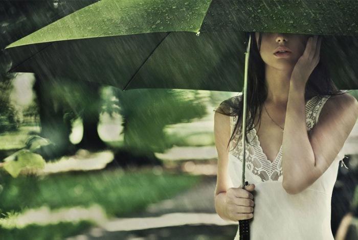 Защита от дождя в виде зонта