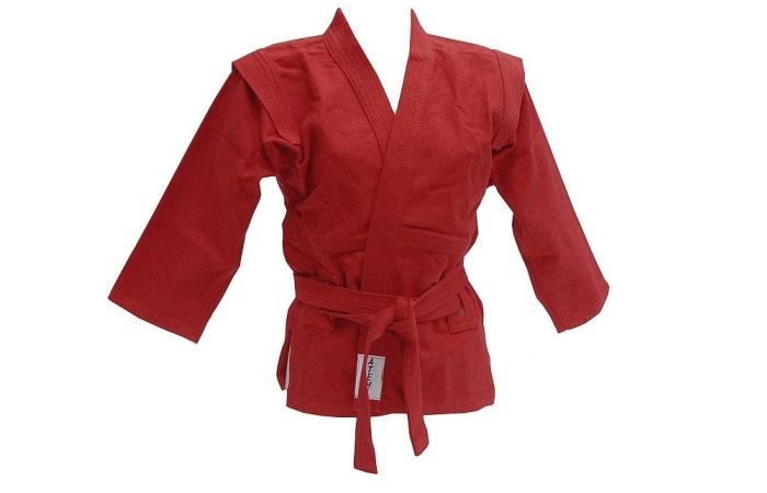 Красное кимоно для занятий самбо
