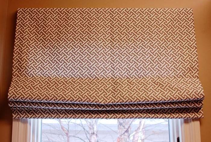 Оригинальный принт на шторе