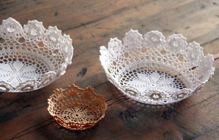 Вязанные салфетки с устойчивой формой