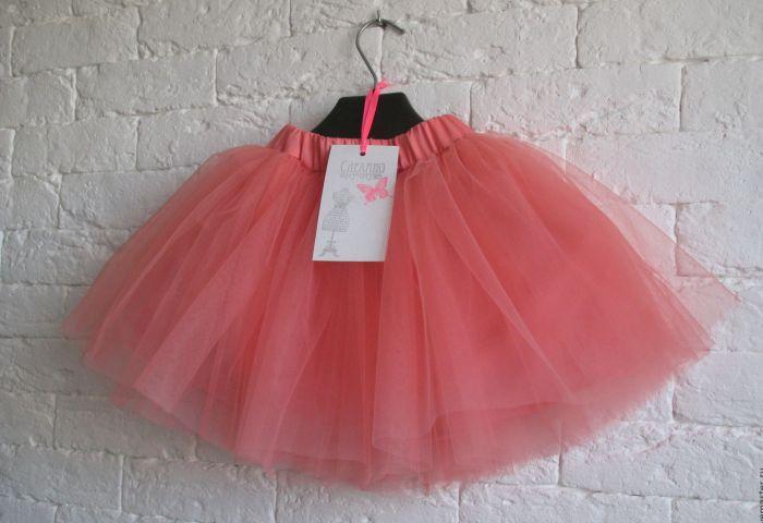 Легкая и воздушная розовая юбка