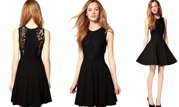 Черный женский наряд