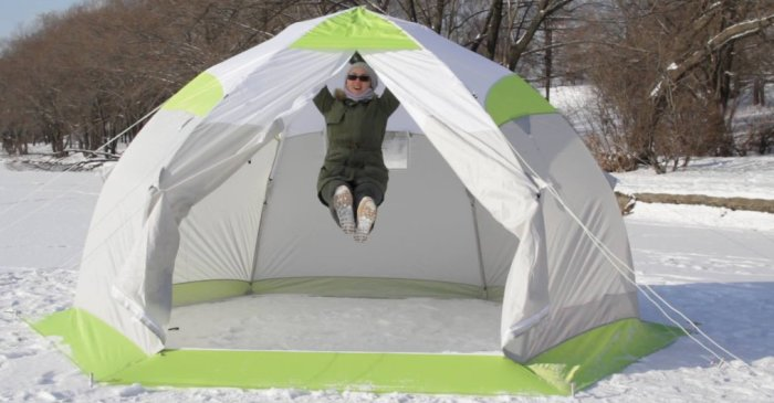 Современная палатка, крепкая и функциональная
